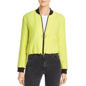 Kenneth Cole New York Quilted Crop Bomber Jacket